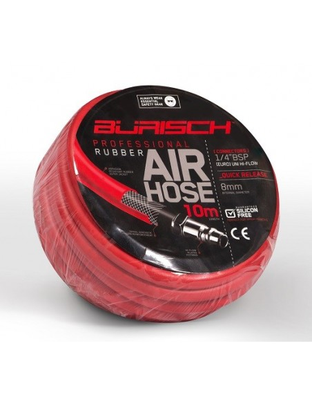 Burisch Professional Series 10 meter Rubber Air Hose Silicone Free