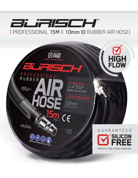 Burisch Professional 15m High flow Rubber Airline hose
