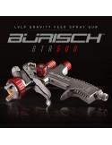 Burisch Air Compressor 90L + LVLP Spray Gun + Clean Air Kit, Consumables & DVD Burisch