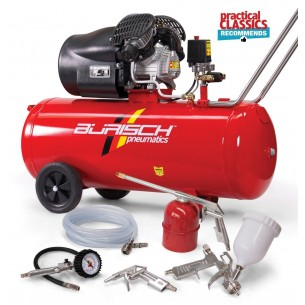 Burisch 5 Piece Kit BT-3100V 100 Litre Air Compressor