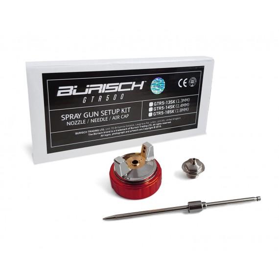 BURISCH GTR500 1.3mm Setup Kit - Needle Nozzle Cap