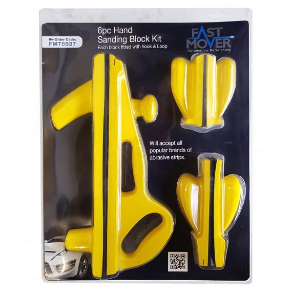 6pc Hand Sanding Block Kit