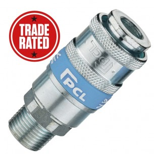 "PCL Airflow (UK STYLE) 3/8"" Male Thread Quick Coupling"