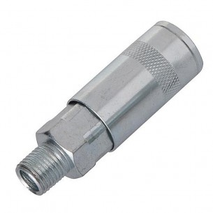 "Air Fitting, Quick Coupler, UK Style, 1/4"" BSP Male Thread"