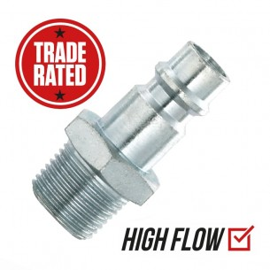 "PCL XF (EURO) 3/8"" Male High Flow Coupler"