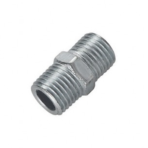 "Double Union Air Fitting, 1/4"" BSP Male/Male Thread"