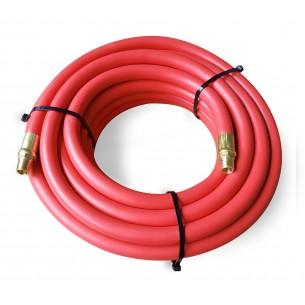 """10m Rubber Air hose 10mm ID 1/4"""" BSP Male threads"""