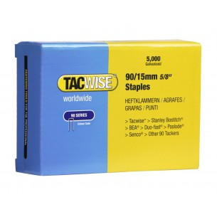 Tacwise 90 Narrow Crown Staples 15mm (5,000 Pack)