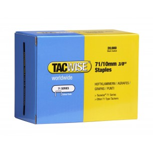 "Tacwise Staples 71 Series 10mm 71/10mm 3/8"" 0369"