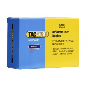 Tacwise 90 Narrow Crown Staples 20mm (5,000 Pack)