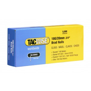 Tacwise 18G Brad Nails 20mm (5,000 Pack)