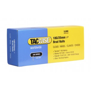 Tacwise 18G Brad Nails 25mm (5,000 Pack)