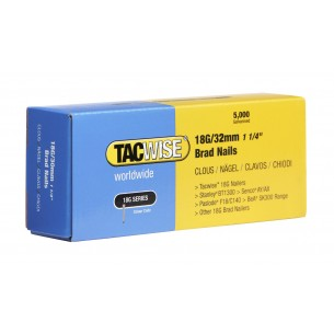 Tacwise 18G Brad Nails 32mm (5,000 Pack)