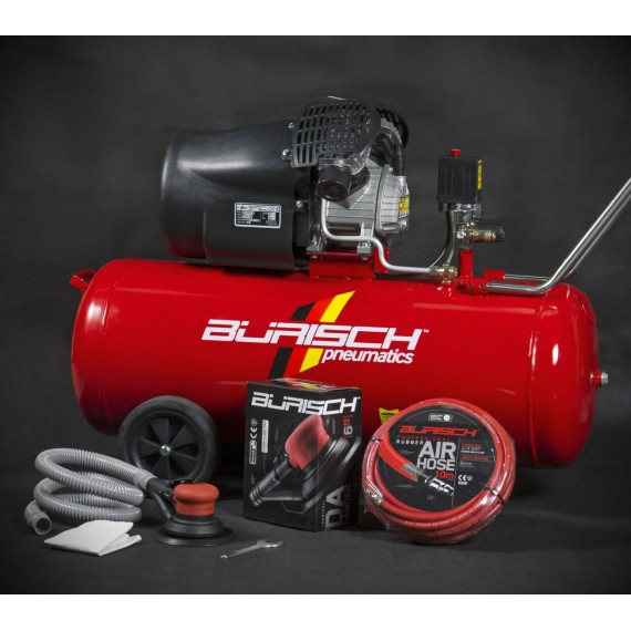 Burisch DA Kit 100 Litre Air Compressor Belt Drive BT-3100V