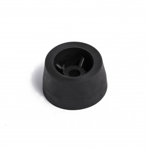 Rubber stopper foot 53mm x 29mm x M8