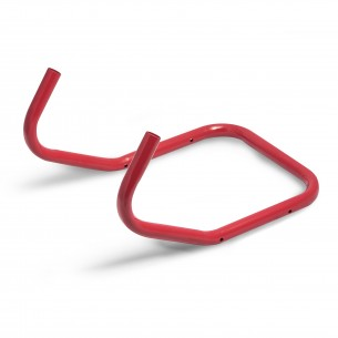 Steel air compressor handle (Red) 255mm x 22mm diameter