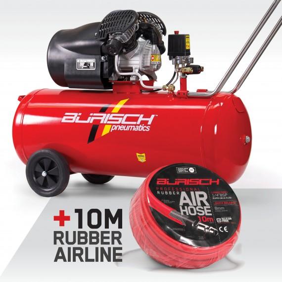 Burisch Hose Kit 100 Litre Air Compressor Direct Drive BT-3100V