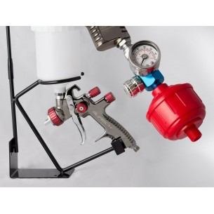 BURISCH™ GTR500 LVLP Spray Gun + Bench holder + Regulator + Filter