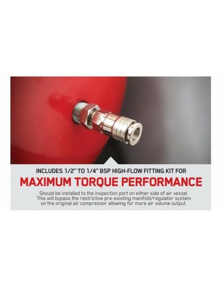 BURISCH™ Professional™ 680 Air Impact Wrench + 15m Rubber air hose + 35 PCE Impact Socket set