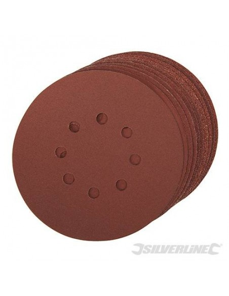 Hook & Loop Sanding Discs Punched 8 hole 150mm 10pack