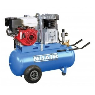 Nuair Petrol 100Litre Honda 5.5HP Air Compressor