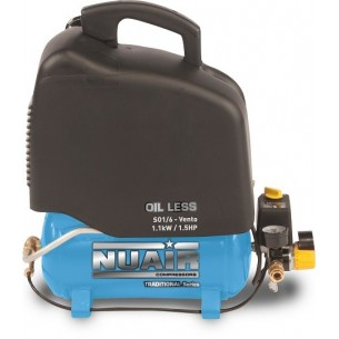 Nuair Oil-less Direct Drive Air Compressor 1.5 HP 6 Litre with handle