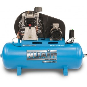 Nuair Belt Drive 5.5HP 200Litre 10Bar 400 Volt Air Compressor