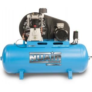 Nuair Belt Drive 7.5HP 270Litre 10Bar 400 Volt Air Compressor