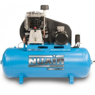 Nuair Belt Drive 7.5HP 270Litre 10Bar 400 Volt Air Compressor