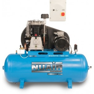 Nuair Belt Drive 10HP 270Litre 10Bar 400 Volt Air Compressor