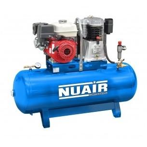 Nuair Electric Start Petrol 200Litre 9HP Stationary Air Compressor