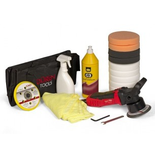 Dual Action Polisher Buffer Car Electric Sander DA Kit, Farecla G3 1L & 11 Pads