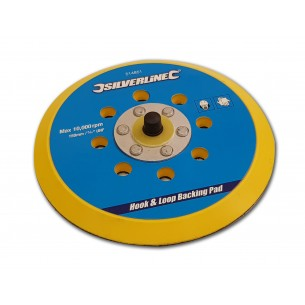Backing Pad, 150mm, Hook & Loop, 6 Hole and 5/16 Thread