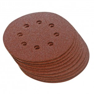 Hook & Loop Sanding Discs 125mm 60 grit 10pk