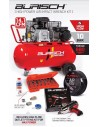 Medium Burisch 680nm Impact wrench & 90L air compressor kit