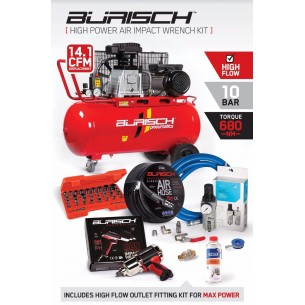 PRO Burisch 680nm Impact wrench & 90L air compressor kit