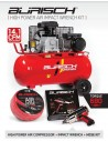 BASIC Burisch 680nm Impact Wrench & 90L air compressor kit